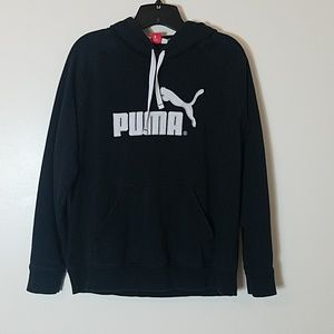 Puma black hoodie size large